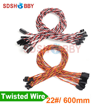 10 Adet * Ağır 22 #/22AWG Servo Twisted Tel 600mm